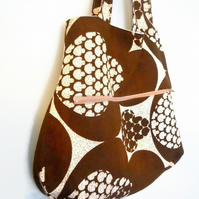 SALE TOTE Beach Bag in Funky 70s VINTAGE fabric