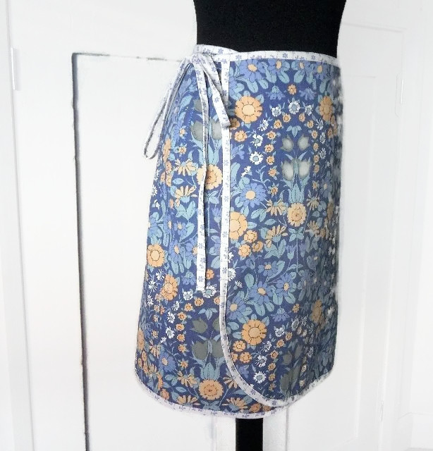 Vintage Fabric Wrap Skirt