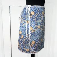 SALE Vintage Fabric Wrap Skirt