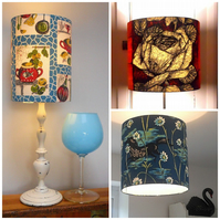 Vintage Fabric Custom Made Lampshade