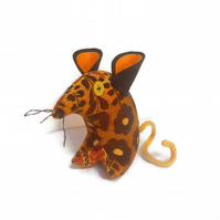 Funky 60s RETRO Mouse in Vintage Barkcloth