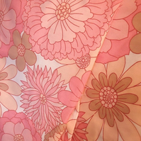 Vintage Fabric 70s PINK Patchwork and craft