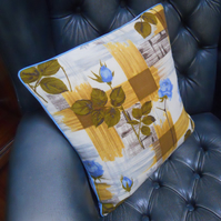 Rose Mid Century Vintage Fabric Cushion