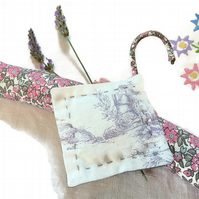 Vintage Fabric Lavender bags - Lilac Toile
