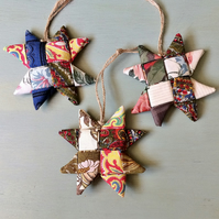ECO Christmas Stars - Vintage Fabric