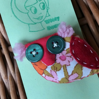 RETRO OWL Brooch - Christmas Stocking filler
