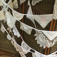 Vintage Doily bunting 3 m - great for Christmas or Weddings!