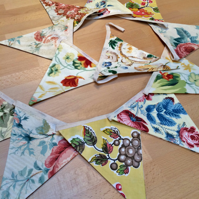 Summer Salad Floral Bunting - perfect for a wedding