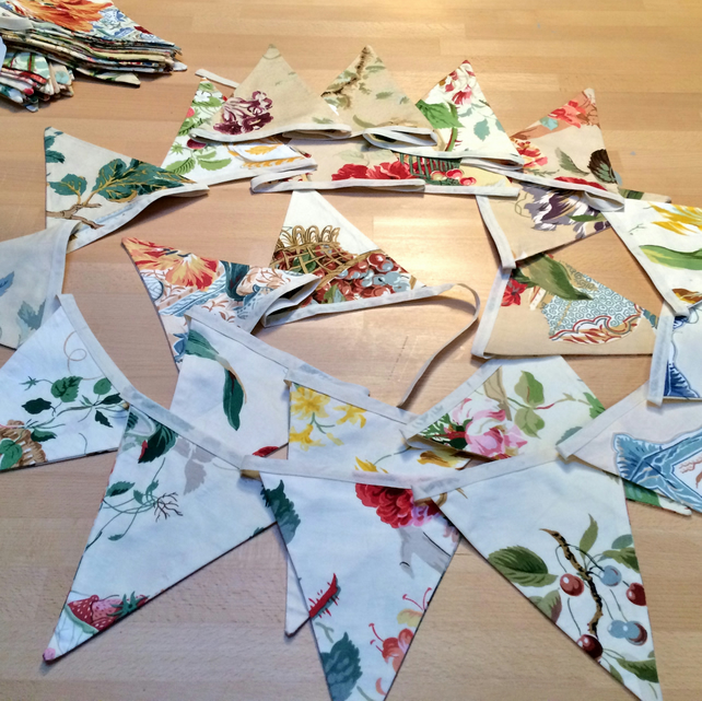 6m LONG Beautiful Floral Bunting - perfect for a wedding