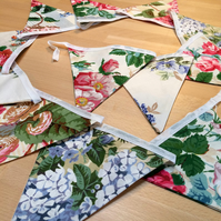 Beautiful Bright Floral Bunting - perfect for a wedding
