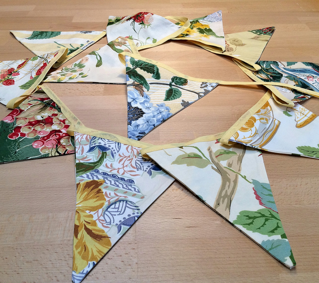 Summer Yellow Floral Bunting - perfect for a wedding