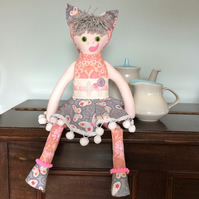 KATIE KITTYKAT A Forest Friend Cat Kitten Rag Doll vintage collectable