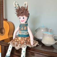 ROWENA RabbitRascal  - Pretty Forest Friend Doll vintage collectable