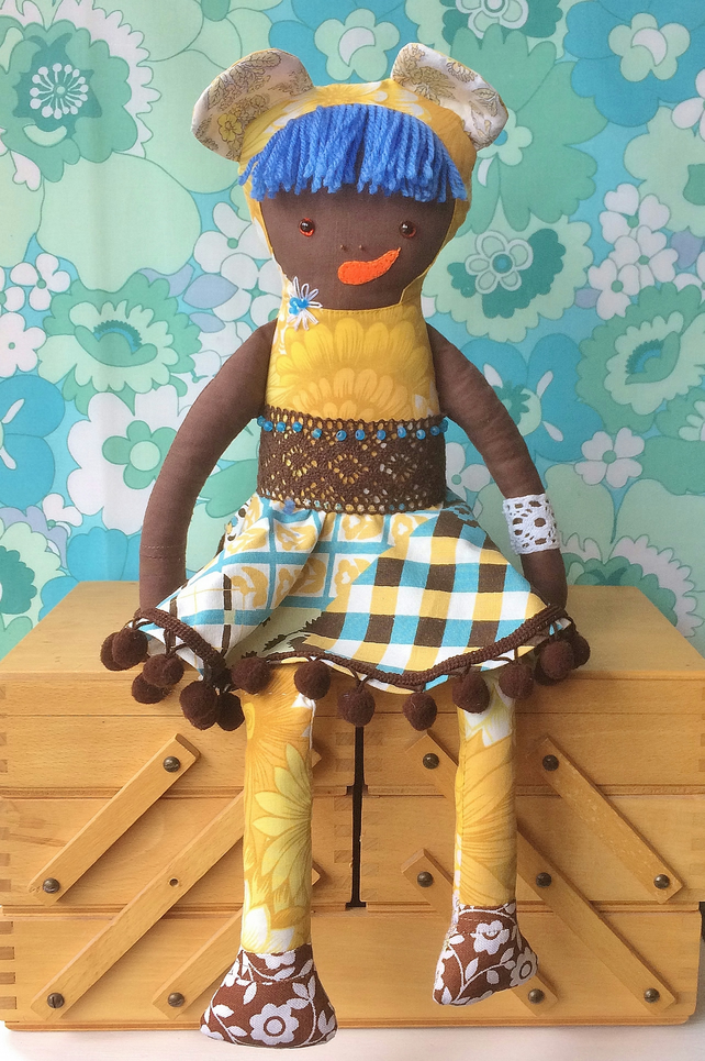 BELINDA BEARCUB  A Forest Friend ETHNIC Rag Doll vintage collectable