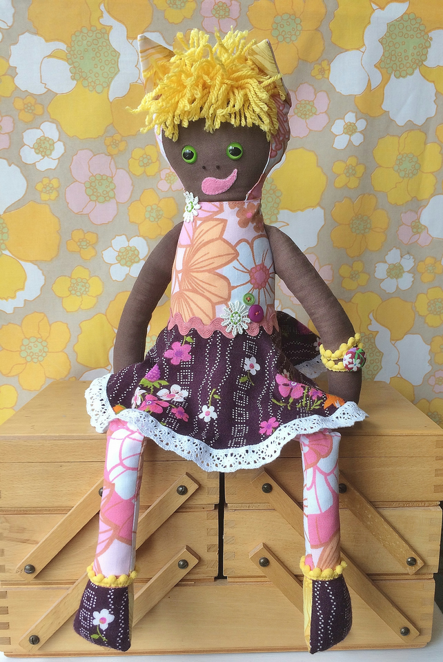 Kayla KittyKat  A Forest Friend ETHNIC Rag Doll vintage collectable