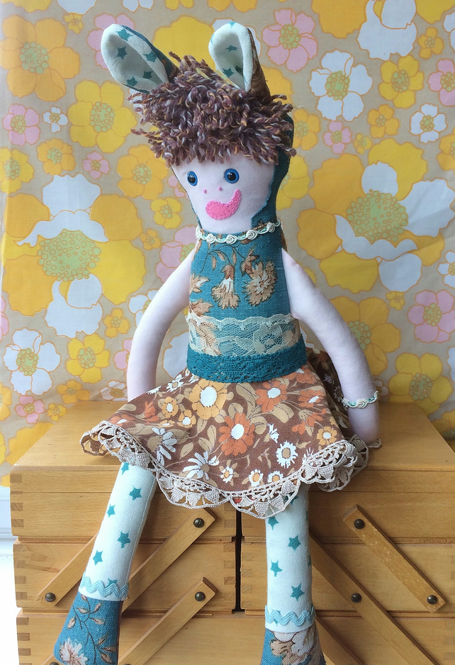SALE FREE UK Post - ROWENA RabbitRascal  - Pretty Doll vintage collectable