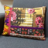 Vintage Fabric Cushion INCLUDES PAD