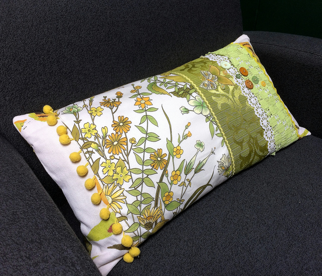 Spring Vintage Patchwork Cushion