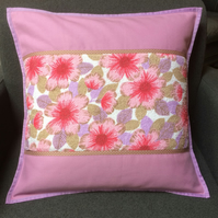 PINK Vintage Fabric Cushion