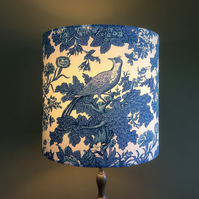 A Beautiful BLUE BIRD  Country House Vintage Fabric Lampshade