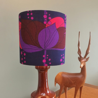 RETRO Purple Lampshade in RARE BORAS Vintage Fabric