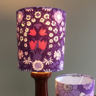 DAISYCHAIN RETRO  Purple Vintage Fabric Lampshade