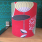 SLIGHT SECOND Iconic MCM ATOMIC  RED 50s  Barkcloth Vintage Fabric Lampshade