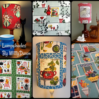50s Kitsch and Kitchenalia Retro Vintage Fabric Custom Made Lampshades