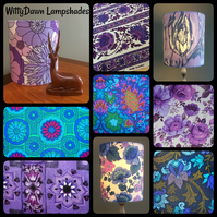 Opulant PURPLE Modern Country and RETRO  Vintage Fabric Custom Made Lampshades
