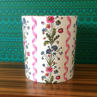 SALE FREE UK POST Lovely French PINK Floral Vintage Fabric Lampshade