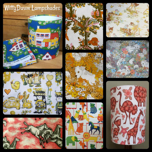 Unusual Nursery and Child themed Retro and Vintage Custom Made Lampshades