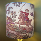 Country Pursuits Hunting themed 40s 50s  Vintage Fabric Lampshade