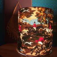 Traditional Tally Ho Horse and Hounds Lampshade