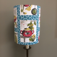 Kitsch Kitchenalia 50s 60s Retro MCM Vintage Fabric Lampshade