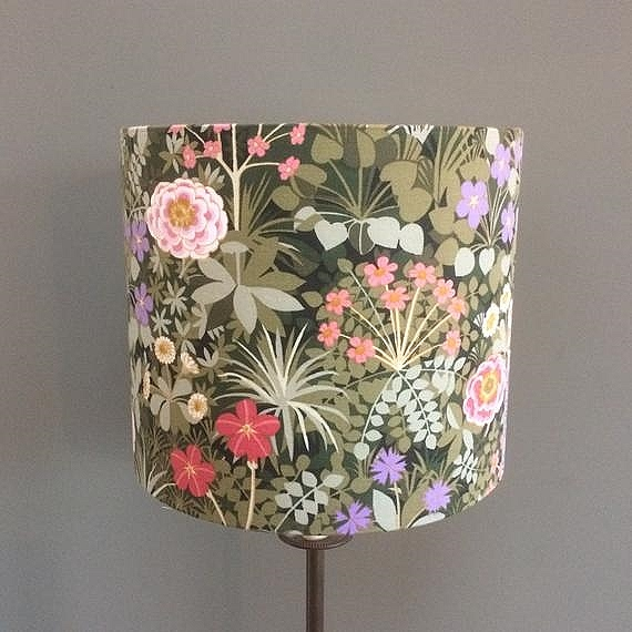 60s 70s Floral Lampshade  featuring a fabulous Pat Albeck vintage fabric