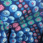 50s Blue and Pink Geometric and DAISY Barkcloth  Vintage Fabric Lampshade option