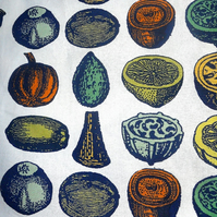 Dramatic Scandi style  Fruit and Vegetables Retro Fabric Lampshade option