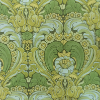 Zesty Lime Green 70s William Morris Style Vintage Fabric Lampshade option