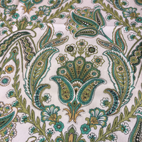 Green 70s Floral Akbar by Sansderson Vintage Fabric Lampshade option