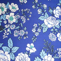 Pretty BLUE Roses Grasmere by Osman  Vintage Fabric Lampshade option