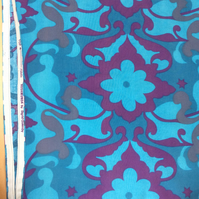 Groovy BLUE PURPLE Rosamunda by Sigrid Quemby Vintage Fabric Lampshade option