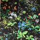 BLACK Woodland Floral by Warner Greeff  Vintage Fabric Lampshade option