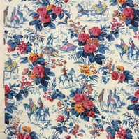 Horses Lords and Ladies Marignon French fabric Vintage Fabric Lampshade option