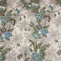 Moygashel Blue and Lilac Floral Marianne Vintage  fabric Lampshade option