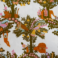 Fun 60s 70s Animal and Bird GAZEBO Sanderson vintage fabric Lampshade option