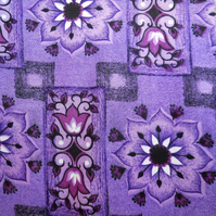 Black and Purple Fanstastic 50s 60s Barkcloth Vintage Fabric Lampshade option
