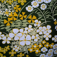 Retro 60s Flowers  CranBrook by  Osman VIntage Fabric Lampshade option