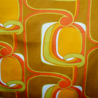 GROOVY MOD ABSTRACT GEOMETRIC in Zesty colours Vintage Fabric Lampshade option