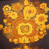 Yellow Hippy Flower Boras Marta-Lena Bjerhagen Vintage Fabric Lampshade option