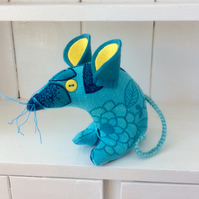 Turquoise Timmy the Cute Retro Mouse